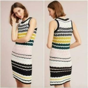 NWT Anthro Black & White Multi-Color Sweater Dress